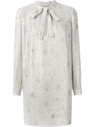 платье шифт с вышивкой Saint Laurent