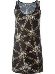 платье с принтом цепей Fausto Puglisi