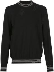 свитер с рваной отделкой Maison Margiela
