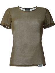 футболка с круглым вырезом  Anthony Vaccarello
