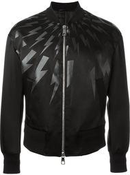 куртка-бомбер с принтом молнии  Neil Barrett
