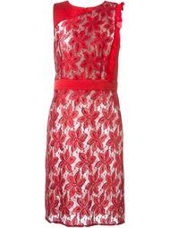 кружевное приталенное платье  Emanuel Ungaro
