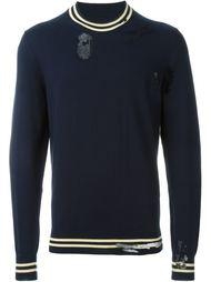 свитер с потертой отделкой Maison Margiela