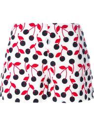 шорты с вышивкой вишен Giamba