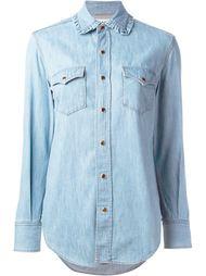 рубашка в ковбойском стиле Saint Laurent