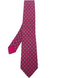 галстук с цветочным узором Hermès Vintage