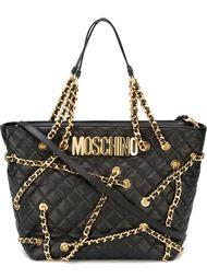 сумка-тоут с цепочной отделкой Moschino