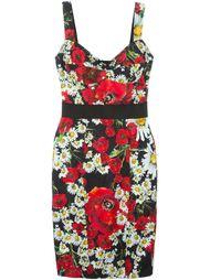 платье с принтом маков и ромашек Dolce & Gabbana