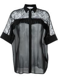 блузка с кружевом и бахромой Versace