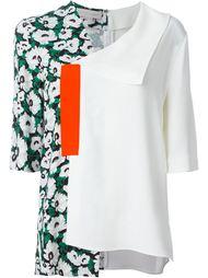 асимметричная блузка с цветочным принтом Stella McCartney