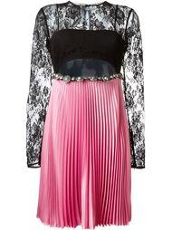 кружевное плиссированное платье Fausto Puglisi