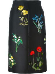 юбка с цветочной вышивкой  Stella McCartney