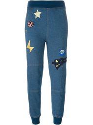 спортивные брюки с заплатками Stella McCartney