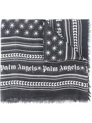 шарф с орнаментом и бахромой Palm Angels