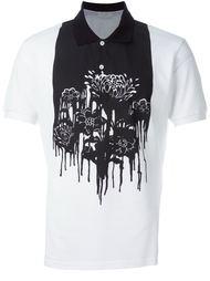 футболка-поло с цветочным принтом Alexander McQueen