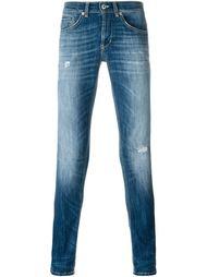 выбеленные джинсы скинни  Dondup