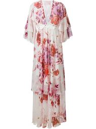 вечернее платье с цветочным принтом  Giamba