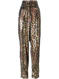 брюки с леопардовым принтом   Lanvin