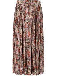 юбка-миди с цветочным принтом Valentino