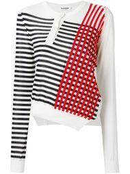 свитер в полоску асимметричного кроя  Jil Sander