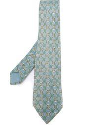 галстук с абстрактным принтом Hermès Vintage