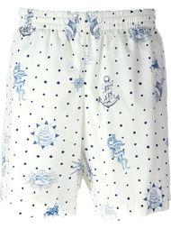 плавательные шорты с принтом татуировок Alexander McQueen