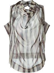 полосатая блузка с отвисающим горлышком Vivienne Westwood Anglomania