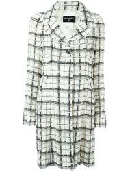 пальто в клетку Chanel Vintage