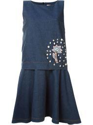 джинсовое платье с декорированной аппликацией Antonio Marras