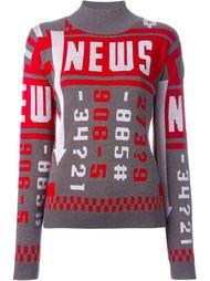 свитер 'News'  J.W.Anderson