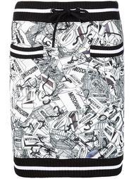 мини-юбка с принтом Moschino