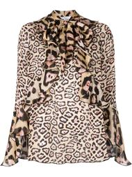леопардовая блузка с оборками Givenchy