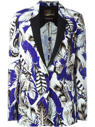 пиджак с принтом перьев Roberto Cavalli