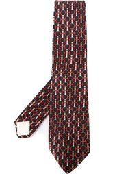 галстук с принтом ремней Hermès Vintage