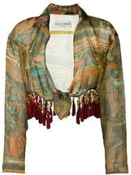 укороченная блузка с абстрактным принтом Dolce & Gabbana Vintage