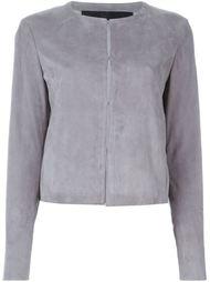 кожаный приталенный пиджак Drome