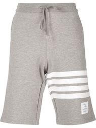 шорты с деталью в полоску Thom Browne