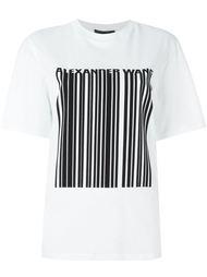 футболка с принтом баркода Alexander Wang