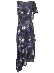 длинное платье асимметричного кроя Yohji Yamamoto