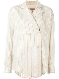 полосатая рубашка свободного кроя Romeo Gigli Vintage
