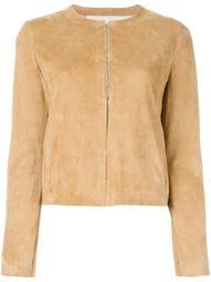 приталенный кожаный пиджак  Drome