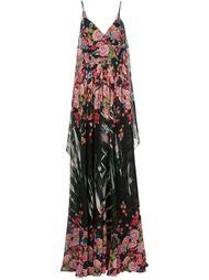 длинное платье с цветочным принтом Elie Saab