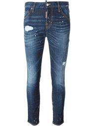 джинсы кроя скинни с рваными деталями  Dsquared2