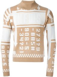 свитер с принтом-интарсией цифр J.W.Anderson