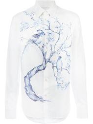 рубашка с принтом птиц Alexander McQueen