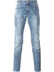 байкерские джинсы скинни Pierre Balmain