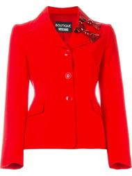 приталенный пиджак с бантами Boutique Moschino
