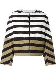 полосатый пиджак дизайна колор-блок Sonia Rykiel