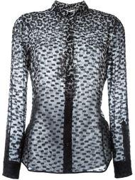 рубашка с леопардовым принтом  Burberry London