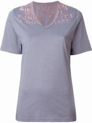 футболка с принтом из фетра Maison Margiela